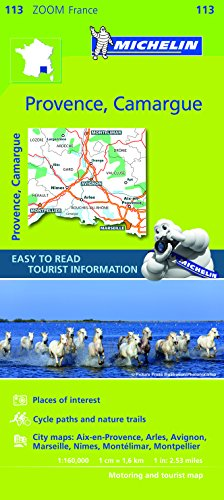 Michelin ZOOM France: Provence, Camargue Map 113 (Maps/Zoom (Michelin)) (English and French Edition)