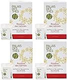 Palais des Thés Rooibos des Vahines Herbal Tea with Vanilla and Almond, 20 Tea Bags (4 Pack)