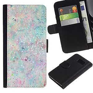Paccase / Billetera de Cuero Caso del tirón Titular de la tarjeta Carcasa Funda para - Paint Splash Pastel Colors Paint - Samsung Galaxy S6 SM-G920