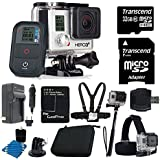 GoPro HERO3+ Black Edition Camera HD Camcorder With Replacement Lithium Ion Batteries + Charger with Car Charger + Deluxe Hard Carrying Case + Monopod + Chest Strap +Head Strap Mount + 32GB SDHC MicroSD Memory Card Complete Deluxe Accessory Bundle