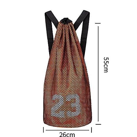 hnjzx bolsa mochila gimnasio bolsa lona deporte viaje bolso de hombro bolsas escuela mochila grande con cremallera para adolescentes adultos, naranja