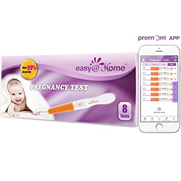 Easy@Home 8 Pregnancy Test Sticks - hCG Midstream Tests, Powered by Premom  Ovulation