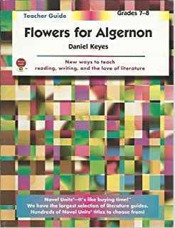 flowers for algernon student packet by novel units inc novel flowers for algernon teacher guide by novel units inc