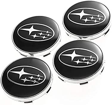 SUBARU 55//60mm Wheel Center Caps Alloy Hubs Covers Outback Forester Impreza B