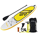 iSUNLIT-Inflatable-SUP-Stand-up-Paddle-Board-with-Adjustable-PaddleCRUISER-Coil-Leash-Travel-Backpack-128-x-34-x-6-Inch-huge-safe-super-stable-Suitable-for-beginners