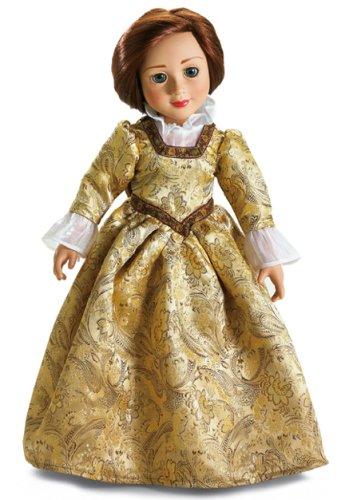 Hampton Renaissance Dress & Shoes for 18 inch Slim Carpatina or AGFAT dolls ()