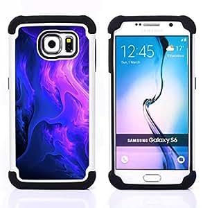 - Purple Clouds - - Doble capa caja de la armadura Defender FOR Samsung Galaxy S6 G9200 RetroCandy