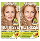 Garnier Nutrisse Nourishing Permanent Hair Color Cream, Shortbread 92 Light Buttery Blonde (2 Count) Blonde Hair Dye