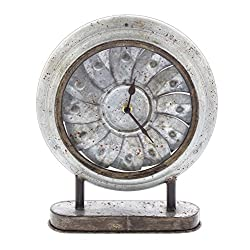 Special T Imports Rustic Pinwheel Desk Clock (Round)