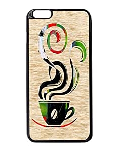 Ahh Coffee Pattern Hard Durable Cover Case for Apple iPhone 6 Plus 5.5-Inches