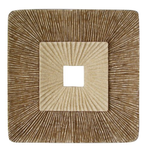 "Concave Square Double Layer Ribbed Wall Plaque 26"" X 2"" (Set of 2) - Screen Gems SGS4148-76F SGS4148-76F"