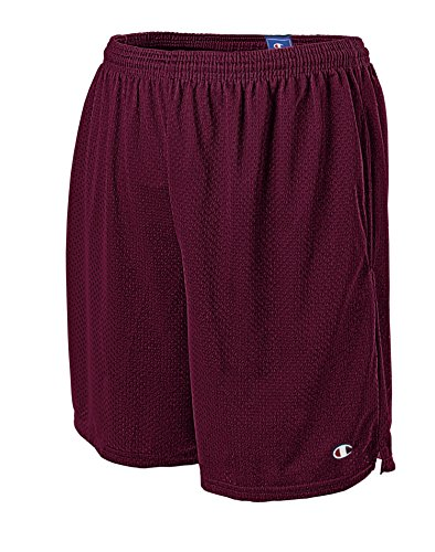 Champion Men's Long Mesh Short with Pockets,Bordeaux Red,Medium from Champion