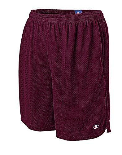 Champion Men's Long Mesh Short with Pockets,Bordeaux Red,XXX-Large ()