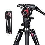 miliboo Professional Aluminum Portable T Camera Video Tripod with Hydraulic Head tripod stand