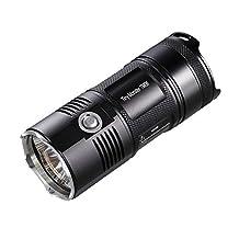 NiteCore TM06-3800LM Smallest and Lightest LED Flashlight/Searchlight, Black