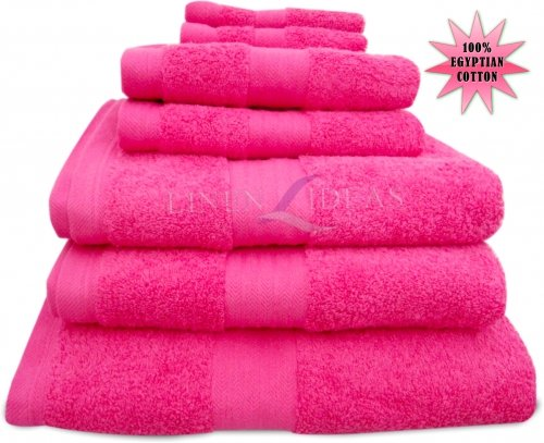 100% Combed Egyptian Cotton, Hand Towel, Cerise