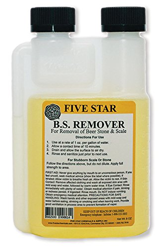 Five Star Beer Stone Remover-8 oz. (Star Wine Five)