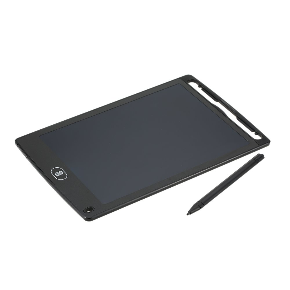 'Kkmoon 8.5 LCD Writing Tablet Handwriting Pad Digital Drawing Board No Paper Notepad Small Blackboard Support Stop Function with Pen Built-in Button Cell Battery