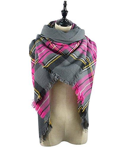Women's Scarves Fall Fashion Scarfs Soft Plaid Blanket Scarf For Women Winter Shawl Cape Scarf Wrap by Urban Virgin