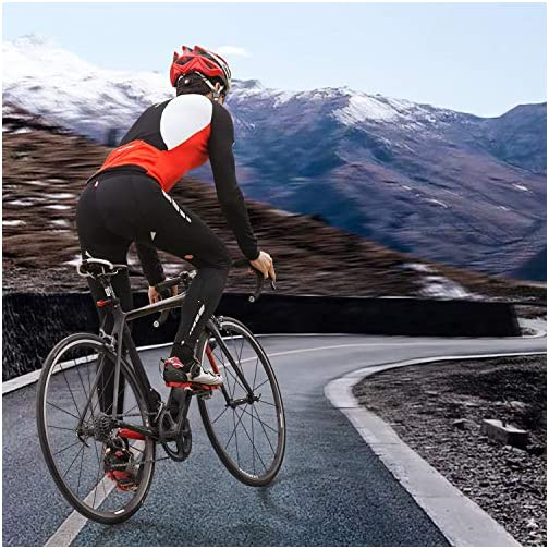 Souke Sports Men's Bicycle Pants 4D Padded Road Bike Tights Breathable Cycling Long Leggings |
