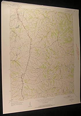 Walton Kentucky Piner Bracht Fiskburg 1952 vintage USGS original Topo chart map