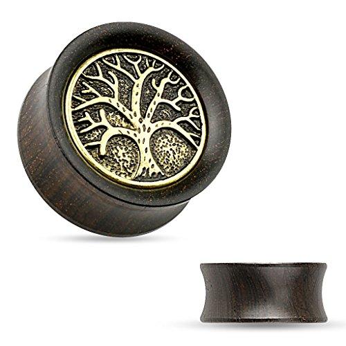 Dynamique Organic Ebony Wood Saddle Tunnels with Tree of Life Top