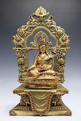 Buddha Figure padmasambhava (43 cm) Bronze - Buddhism Tibet Statue - Asien Lifestyle from Asien Lifestyle