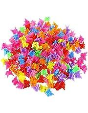 Presilhas de cabelo JLTPH para meninas, 100 peças, mini borboletas, acessórios de cabelo fofos, cores sortidas, lindas, volumes, pequenos clipes, mini borboletas, para mulheres, senhoras