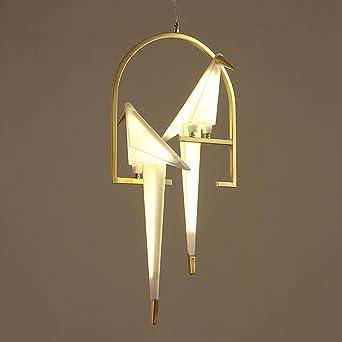 Persönlichkeit Eisen LED Kronleuchter Kreativ Tausend Papier Kräne Vogel 2  Licht Postmodern Dekoration