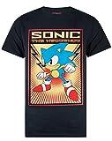 Sonic The Hedgehog Propaganda Poster Men's T-Shirt (XXX-Large) Black