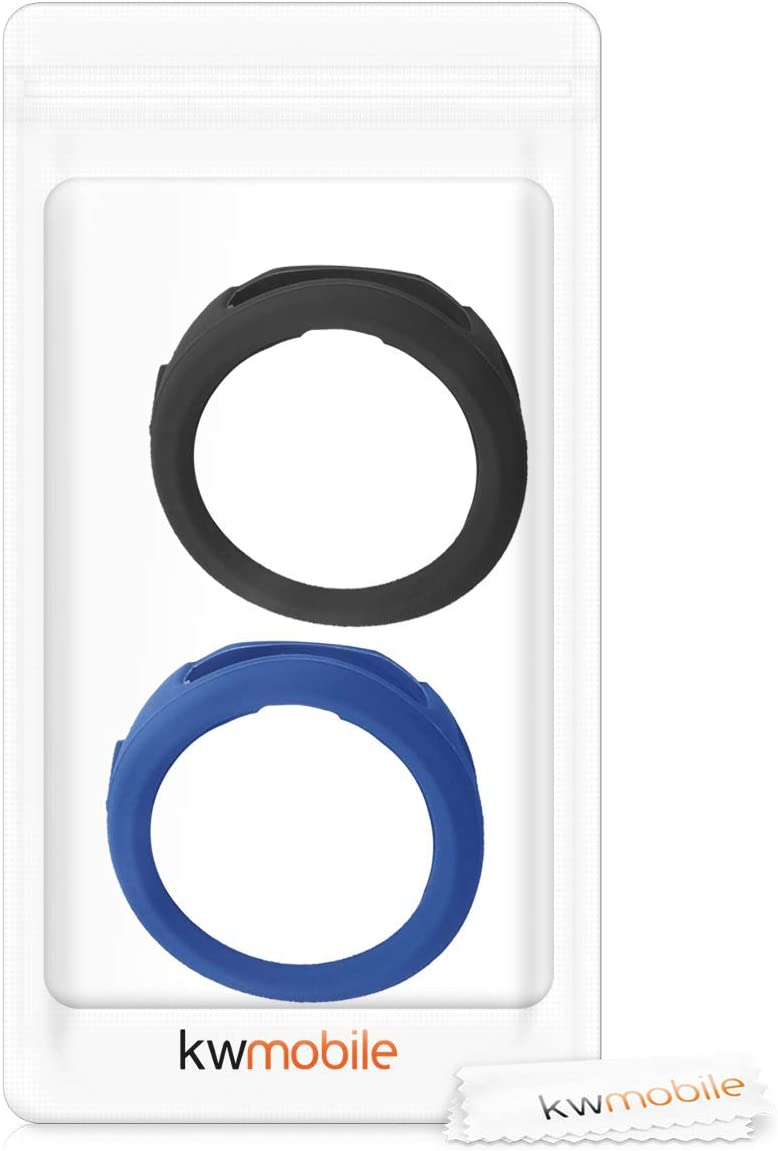 kwmobile Cases for Garmin Vivoactive 3 - White//Black Set of 2 Silicone Covers Fitness Tracker Not Included