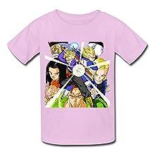 Kid's Geek Dragon Ball Z Kai T-shirts Size M Pink By Mjensen
