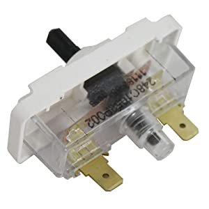 Global Products Dryer Push to Start Switch with GE 248C1146P001