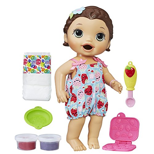 Baby Alive Super Snacks Snackin 'Lily (Brunette) (Exclusivité Amazon)