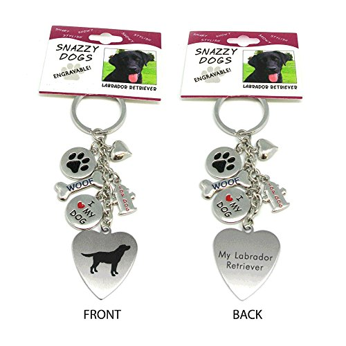 Key Ring Boy (Labrador Keychain for Women,Girls,Boys,Men-Engraved Stainless Steel Dog Key Ring)