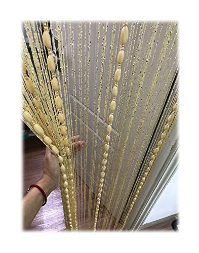 Eyotool 1x2 M Door String Curtain Rare Flat Silver Ribbon