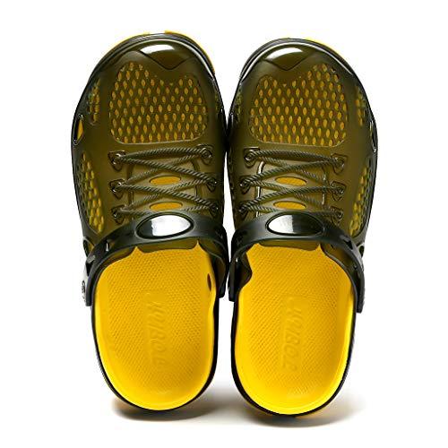 YEZIJIN Hot Sale! Summer Casual Men's Flats Breathable Antiskid Sandals Slippers Beach Hole Shoes Slipper Heels Platform Flats Shoes for Women Ladies Girl Indoor Outdoor Clearance 2019 Best by YEZIJIN_Women's Sandals (Image #3)