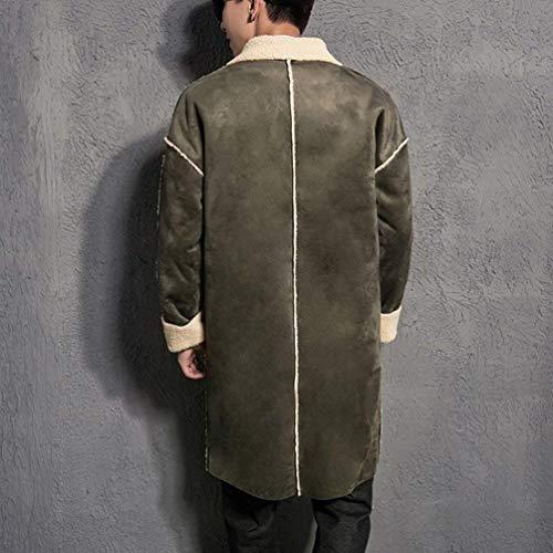 Regular Long Men' Men Avec Homme Warm Armee 1 Grün Montant Hommes Vêtements Fermeture Éclair Manteau Fashionable Col S Ntel Fit Pour 's Avant 8trqOxr