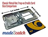 made2catch Classic Metal Rat Trap 4 pack - Durable Reusable Design - Snap Trap for Rats - Fully Galvanized