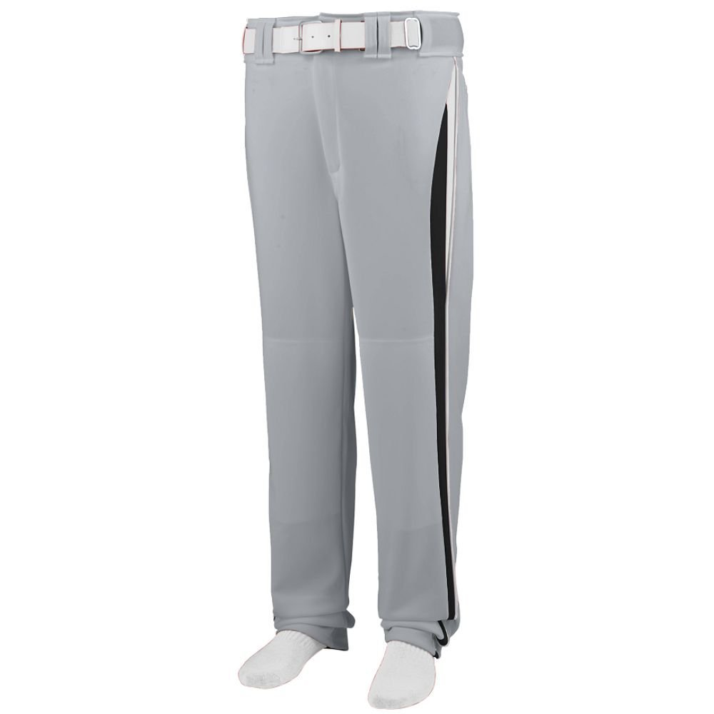 Augusta Sportswear 1475 Adult's Line Drive Baseball Pant - Silver Grey/Black/White 1475A M
