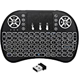 xbmc program key - Remote Backlit Mini Wireless Keyboard, BIFANS 2.4GHz Portable Wireless Keyboard with Touchpad Mouse, Best For Android Smart Tv Box HTPC IPTV PC Pad XBOX
