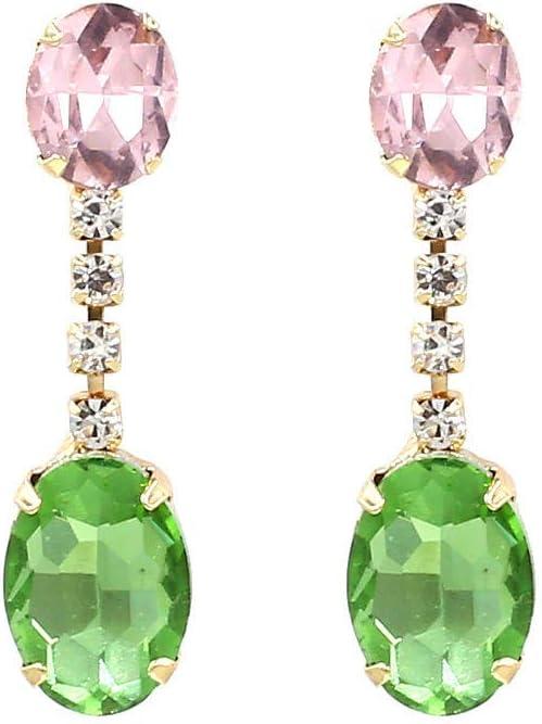 lbince Pendientes Moda Cristal Piedras Preciosas Salvaje Creativo Chicas Pendientes Joyas