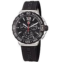 TAG Heuer Men's CAU1110.FT6024 Formula 1 Black Dial Black Rubber Strap Quartz Watch by TAG Heuer