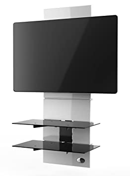 Meliconi Ghost Design 3000 Meuble Pour Tv Blanc Amazon Fr Tv Video