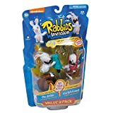 Nickelodeon Rabbids Invasion 3 inch Action Figure 2 Pack - Starfish Friend and Driller by McFarlane Toys