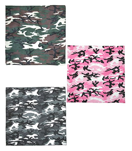 (CTM Urban Hunting Camouflage Bandanas (Pack of 3),)