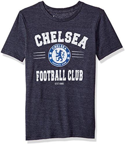 International Soccer Chelsea Youth Boys Traditional Short Sleeve Tee, Large (14-16), Navy