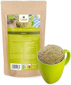 Lizza Bajo en carbohidratos de café, clásico, ecológico, sin gluten, vegano, bajo en carbohidratos y fibra, adecuado para nutrición sin gluten, vegana ...
