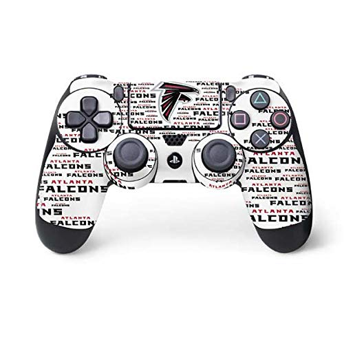 Skinit Atlanta Falcons White Blast PS4 Controller Skin - Officially Licensed NFL PS4 Decal - Ultra Thin, Lightweight Vinyl Decal Protective Wrap