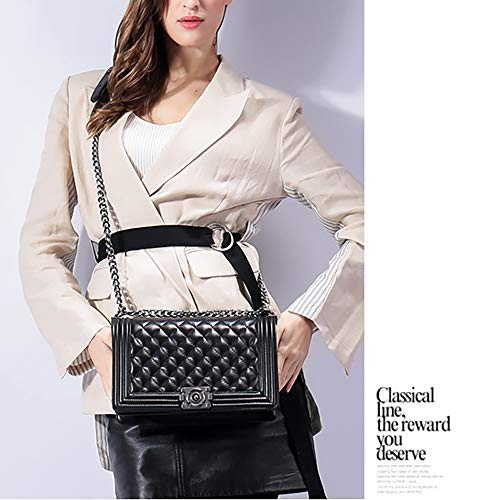 small x Small Bag Chain for Rhombic Female Shoulder 13cm Leather Sheepskin Polyester Lock and Women x Red Ladies Genuine Bag 20 Fashion Bag Fragrance with Red EDLUX 8 4wqztp1w